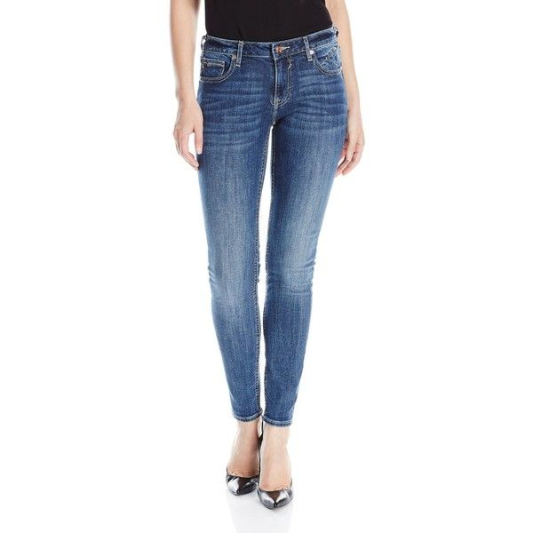 Vigoss Women's Dark Wash Jagger Skinny ($44) ❤ liked on Polyvore featuring jeans, skinny leg jeans, fitted skinny jeans, super skinny jeans, fitted jeans and dark wash skinny jeans