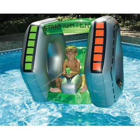 Starfighter Super Squirter Inflatable Pool Toy, Blue