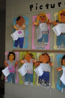 """Picture Perfect Work; each child holding a book """"All About Me"""""""