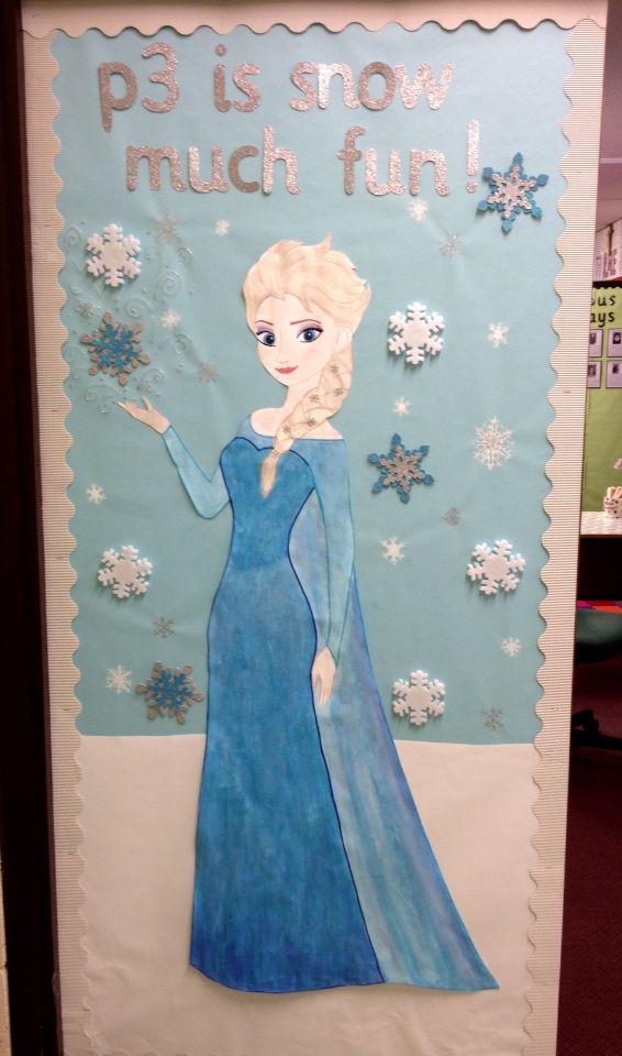 Frozen Elsa classroom door display