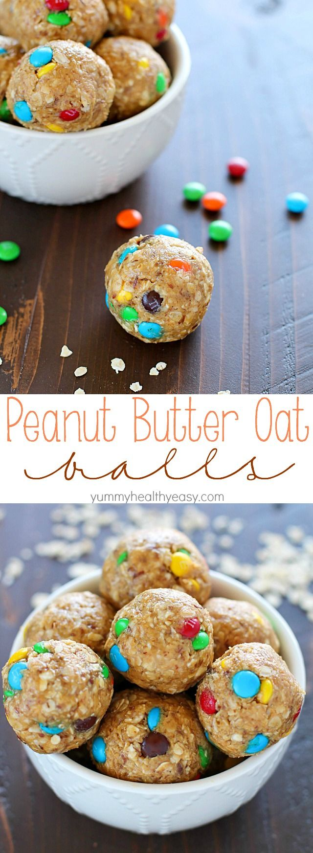 Unbelievably delicious Peanut Butter Oat Balls made in minutes, with only a few ingredients. Plus a KitchenAid Mixer with Ice Cream Maker Giveaway!