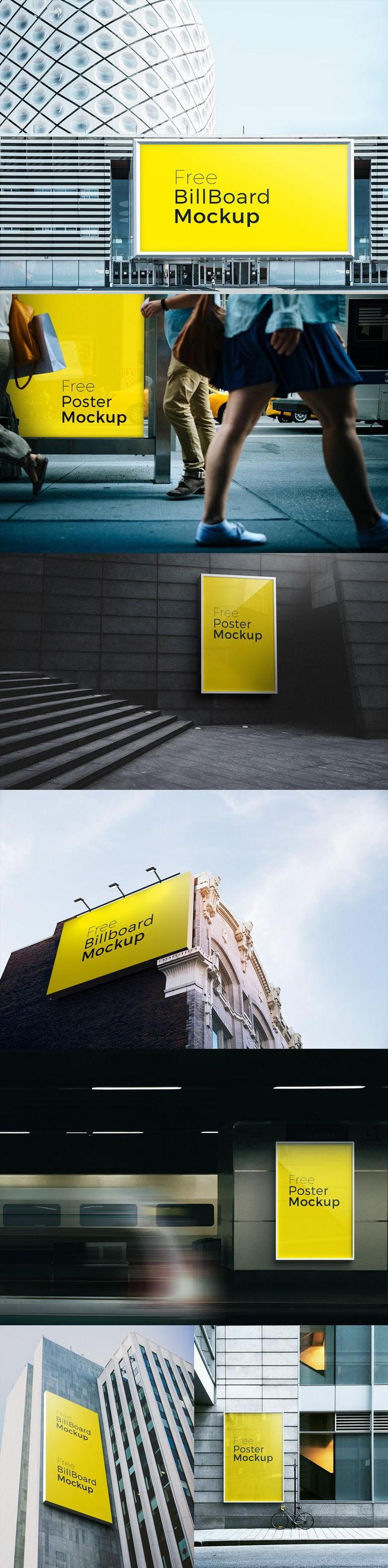 7 Free Billboard Mockups