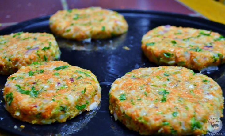Hambúrguer de Arroz e Cenoura sem Glúten | Veganana