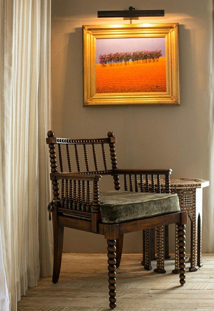 Chaise superbe mobilier de luxe de la maison rustique