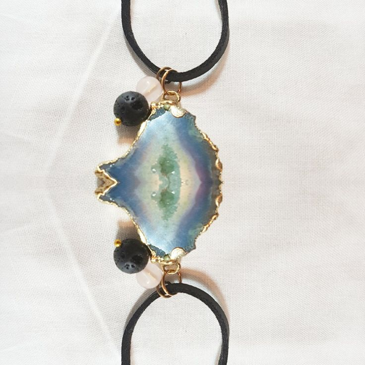 Handcrafted jewellery using crystals.