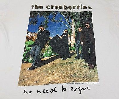 VTG The Cranberries Concert Tour T Shirt 1995 No Need To Argue World Tour sz. L