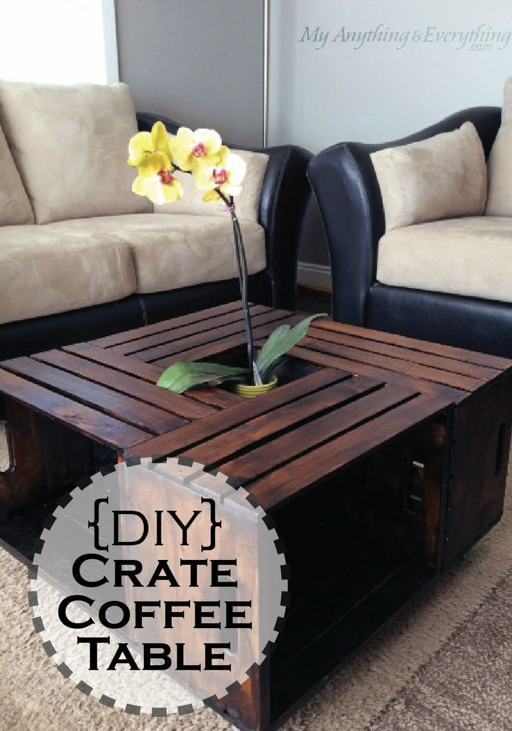 Crate coffee table by my anything and everything crates for Crate style coffee table