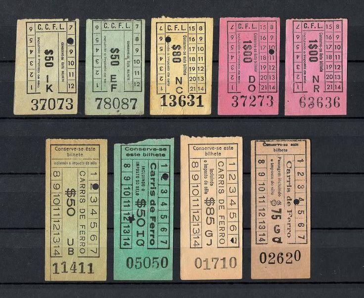 Antigos bilhetes da carris