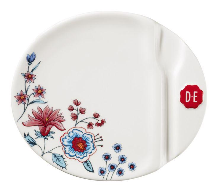 D.E Hylper gebaksbordje - multicolor #pastry #cake #plate #coffee #HylperHeritage #DouweEgberts