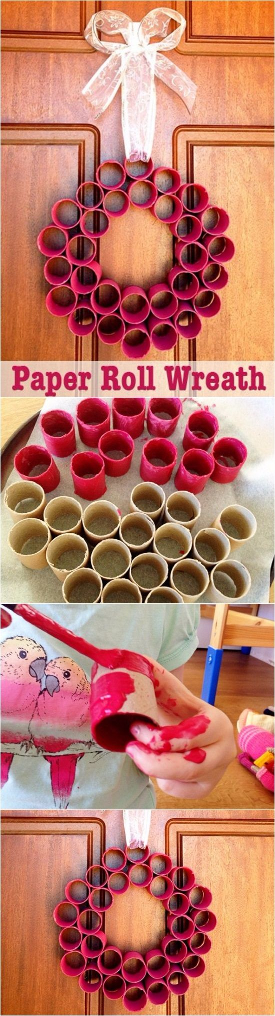 Homemade Christmas Decorations: Paper Roll Wreath | DIY Crafts Tips