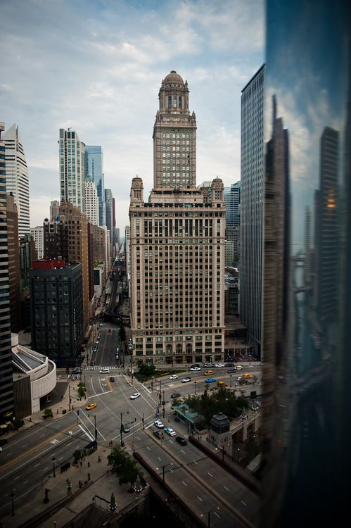 Chicago, 2012.  35 East Wacker.  Busy streets and architecture  We will be seeing you soon Chicago!!!!