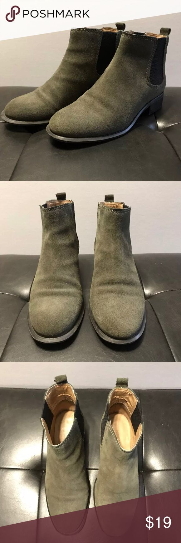 "Nine West Suede Leather Chelsea Boots - Olive Nine West - Women's ""Jara"" Suede Leather Chelsea Boots - Olive Size US 5 1/2  Slightly Pre-Owned with very little wear. Nine West Shoes Ankle Boots & Booties"