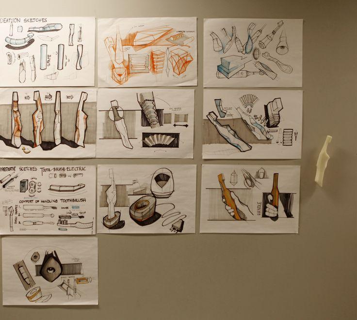 Toy Models Product : Martyna Świerczyńska school of form toothbrush sketches