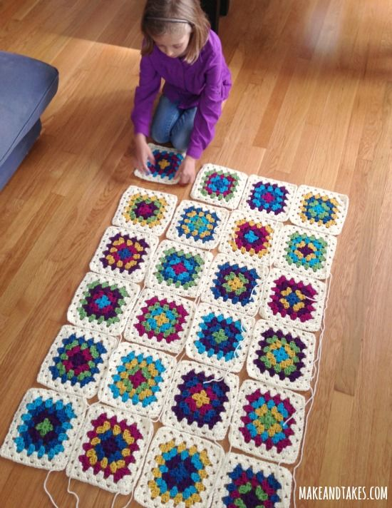 Patching up Granny Square Blanket.How to put all the granny squares together! Great instructions