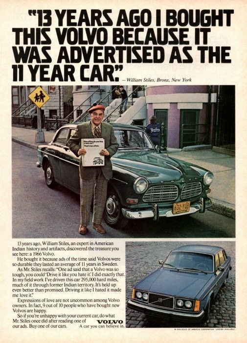 """1979 Volvo Car Ad """"13 Years"""""""