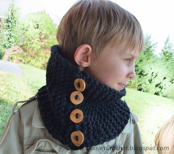 Man Scarf Chunky Bulky Unisex Neck Warmer wool by daisiescrochet, $34.60