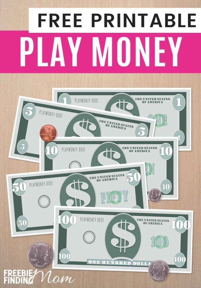 Are your kids learning how to count money? Maybe they like to play store and need fake or play money to make it more realistic. Whether you use this Free Printable Play Money Template for educational or fun, imaginary role-playing games this freebie is su