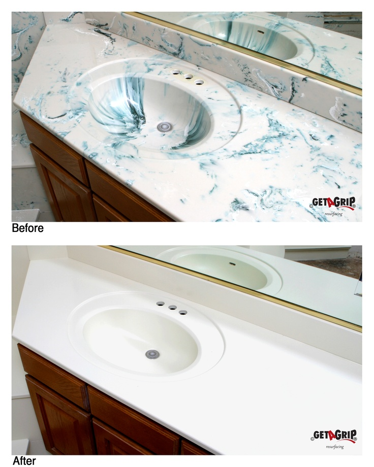 Paint cultured marble sinks & countertops with a waterproof high ...
