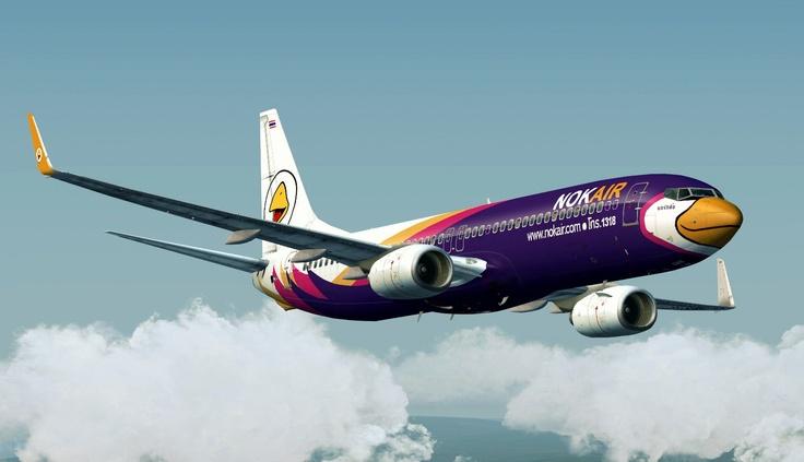 Purple Airplane By Thai Budget Airline Nok Air Creative