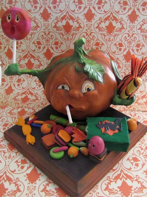 Very hungry pumpkin....by Sweet B Folk Art