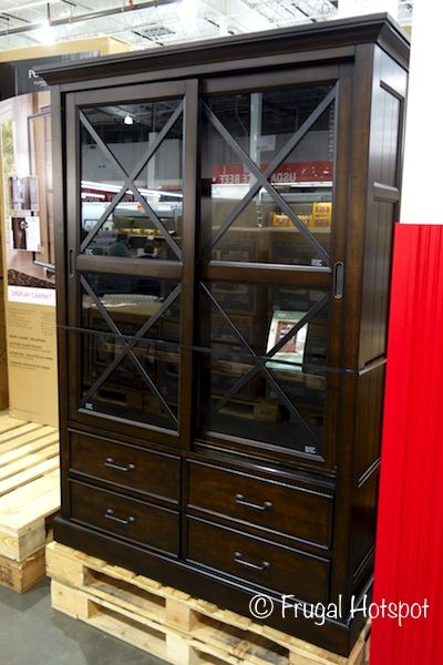 Bayside Furnishings Sliding Door Bookcase. #Costco #FrugalHotspot