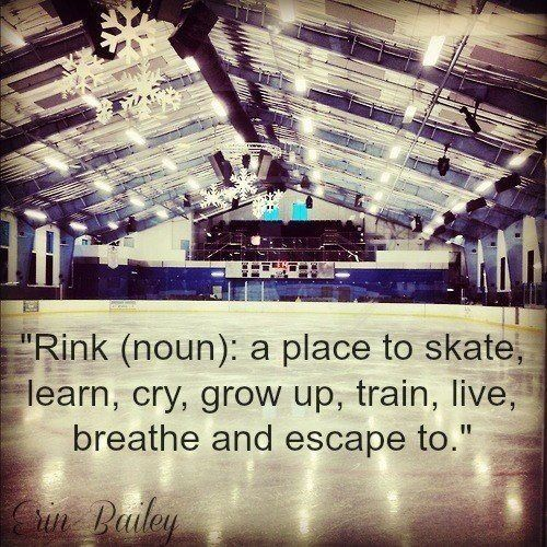 Even when you are having bad days on the ice. If you love it then you will go go back