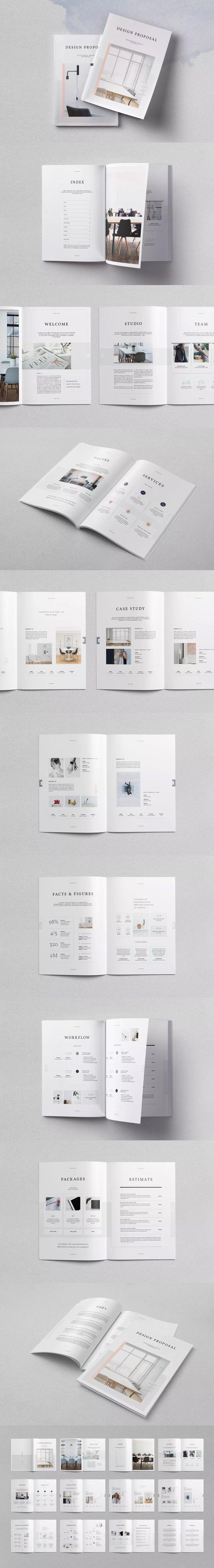 71 Best Proposal Brochure Templates Images On Pinterest