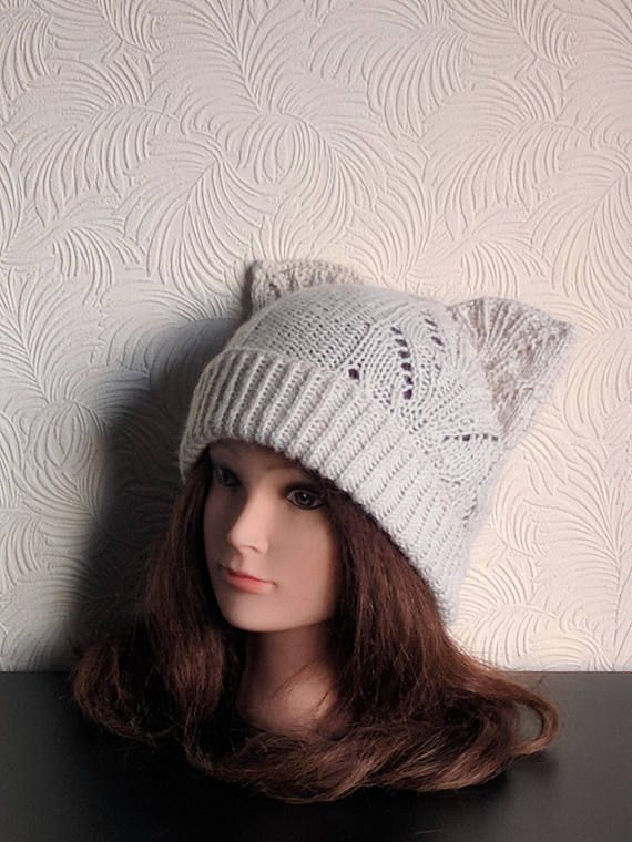 Mejores 17 imágenes de Cat hats en Pinterest | Tejido a mano, Orejas ...