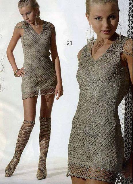 Uncinetto d'oro: Meraviglioso abito grigio!!!