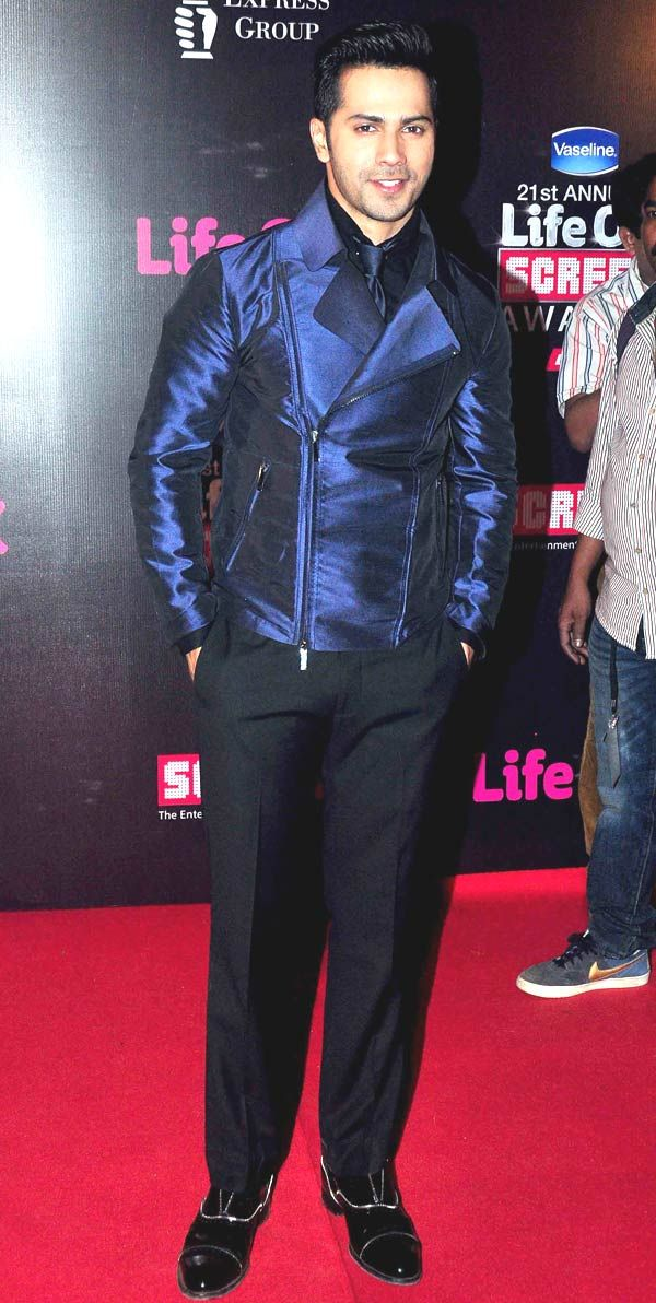 Varun Dhawan at Life OK Screen Awards 2015. #Bollywood #Fashion #Style #Handsome
