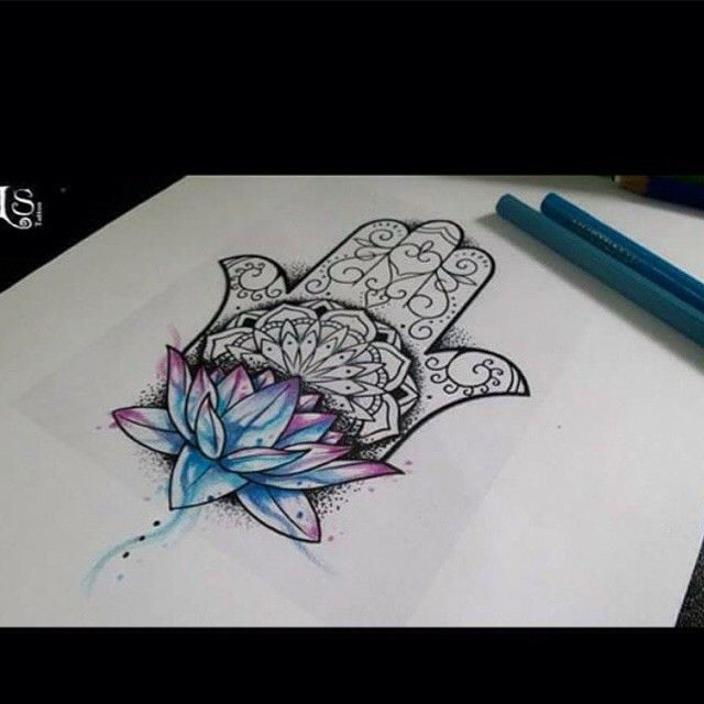 hamsa lotus - Google Search This would be a fantastic tattoo