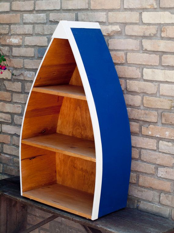 Nautical Boat Book Case Display by prettierthanapicture on Etsy, $150.00