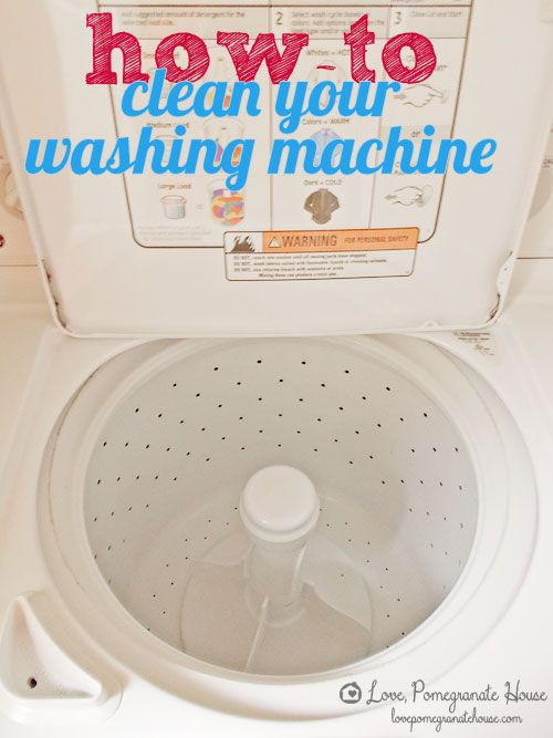 How-to Clean Your Washing Machine || Love, Pomegranate House