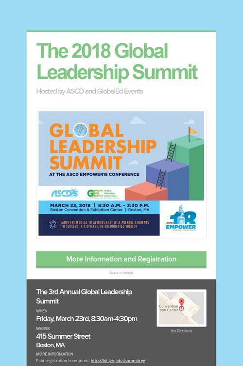The 2018 Global Leadership Summit