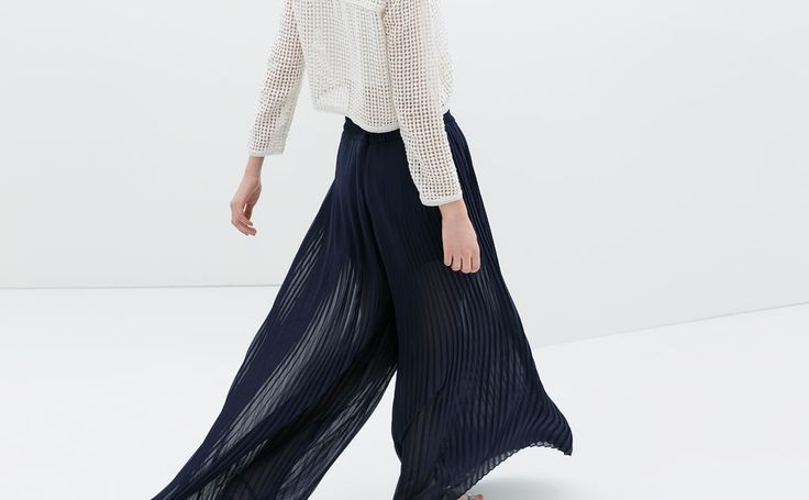 PLEATED BELL BOTTOM TROUSERS