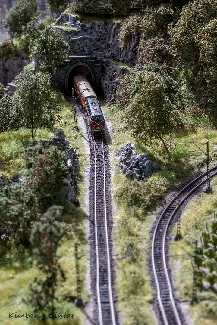 Beautiful model railroad scenery...