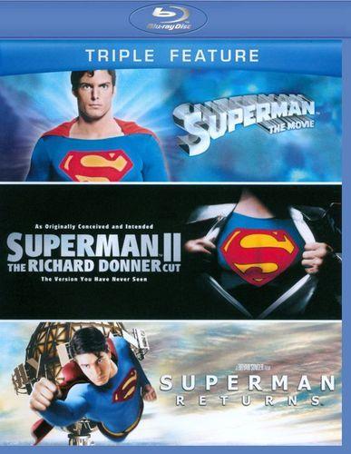 Superman: The Movie/The Superman II: The Richard Donner Cut/Superman Returns [3 Discs] [Blu-ray]