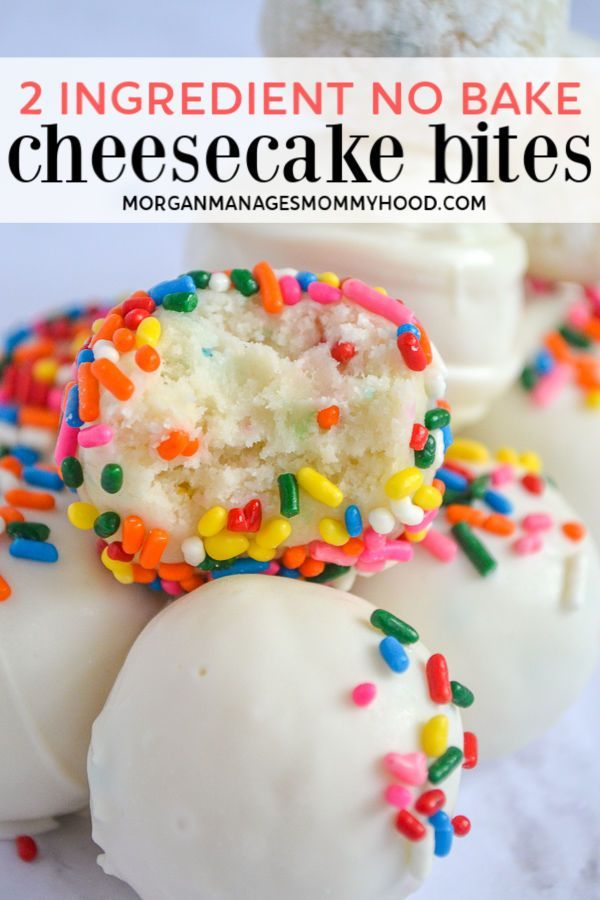 2 Ingredient Cake Batter Cheesecake Bites Recipe 2 Ingredient Cakes Cheesecake Bites Desserts