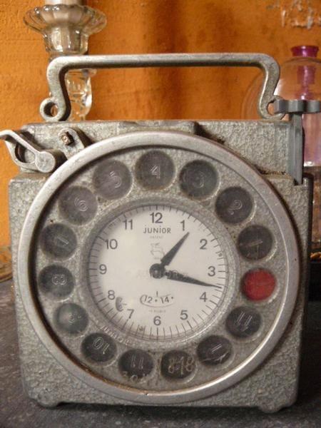 Industriële oude klok