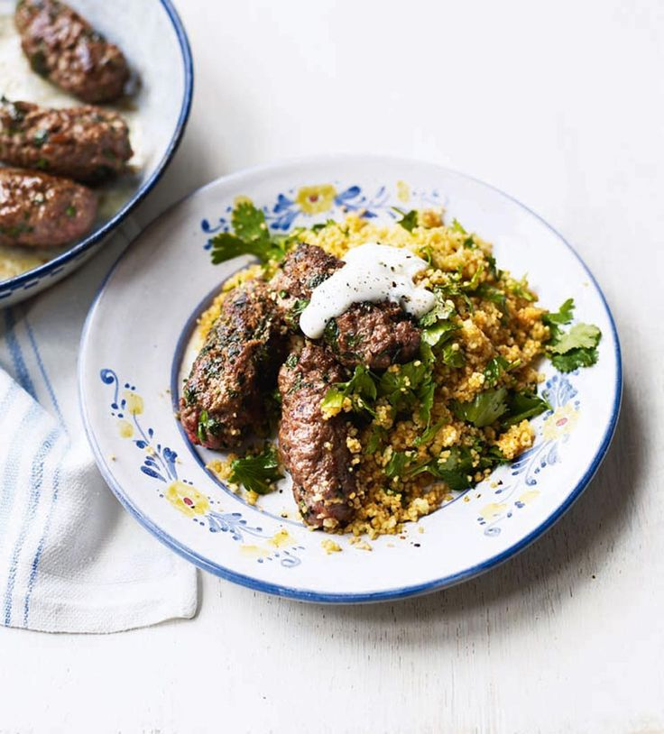 Beef kofta with herb couscous