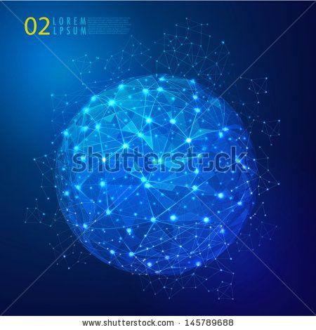 Global mesh network digital and technology, Vector eps10  by Studiojumpee, via ShutterStock