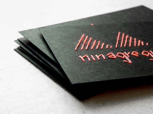 stitched business cards: Promo Cards, Cards Design, Visit Cards, Business Cards, Creative Business, Stitches Business, Embroidered Business, Cards Diy, Nina Gregier