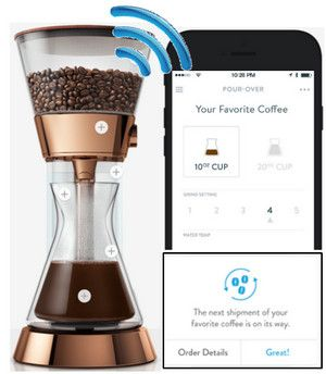 Amazon Dash + Poppy IoT Coffee Maker + Wink Home Automation = Wow