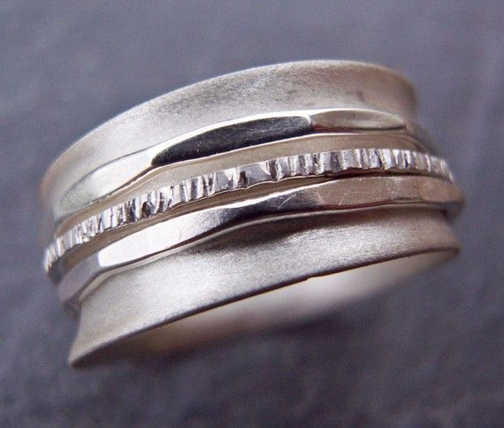 Spinner ring in Sterling Silver by Scape on Etsy