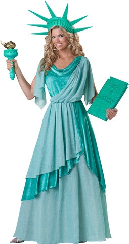 in character costumes statue of liberty elite collection adult costume xlarge green