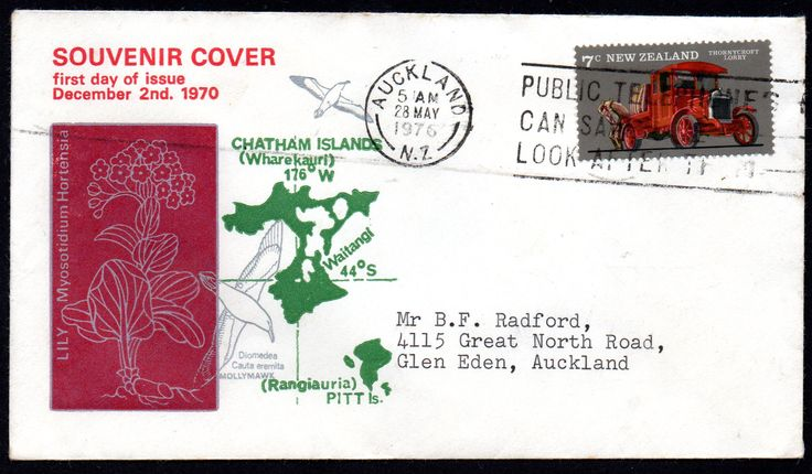 [1722] New Zealand 1970 FDCover , featuring Chatham Islands Lily   Melviche Stamps
