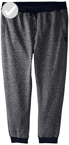 Southpole Men's Big and Tall Jogger Pants Basic Fleece Solid Clean in Marled Colors, Marled Navy(New), 5XB - Mens world (*Amazon Partner-Link)