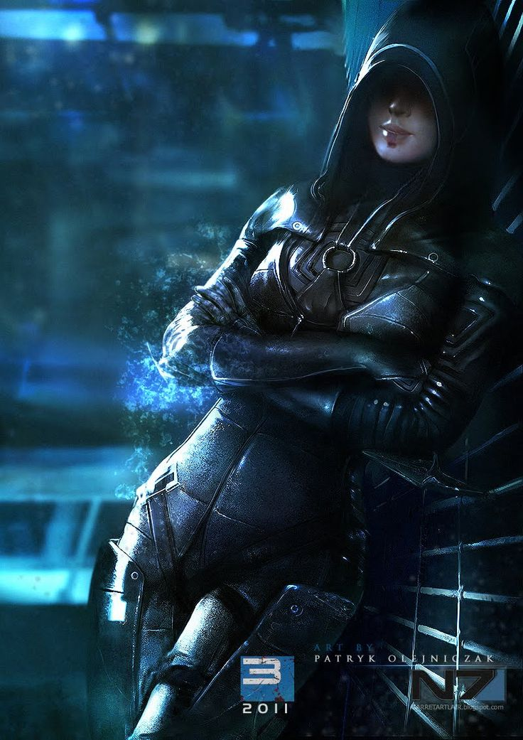 Kasumi Koto. Mass Effect 3. I love the noir look of this.