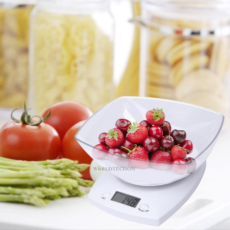5Kg 11Bs X 0.1G Digital Weight Kitchen Scale Diet Bake Food Postal Scale W/ Bowl