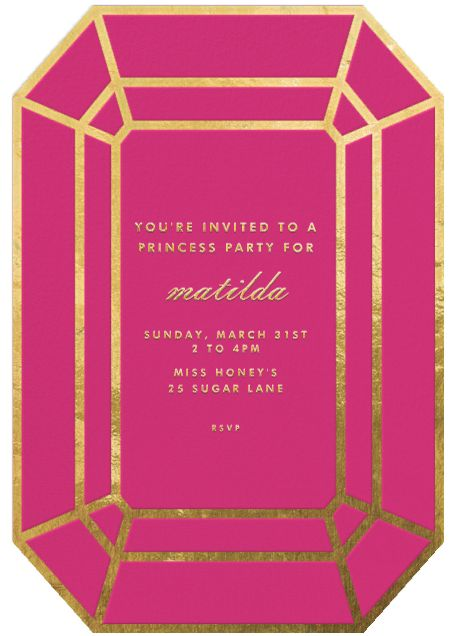 """Gem - Pink"" Invitation, by kate spade new york, Paperless Post"